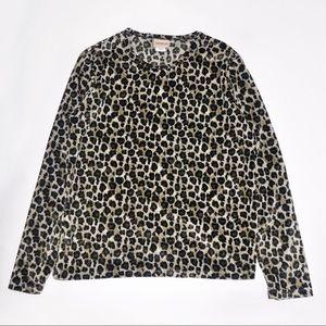 Tops - Vintage Velvet Leopard Sweatshirt from the 1980's